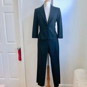 Ann Taylor Loft Black Blazer Pant Ann Suit 10 Med